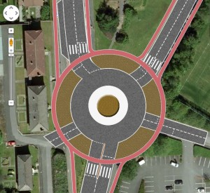 Alternative design for a roundabout