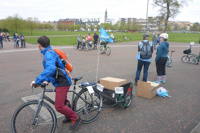 Assembling at Glasgow Green