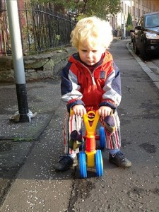 toddler on a Toddlebike