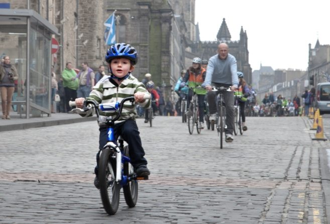 little boy on bike