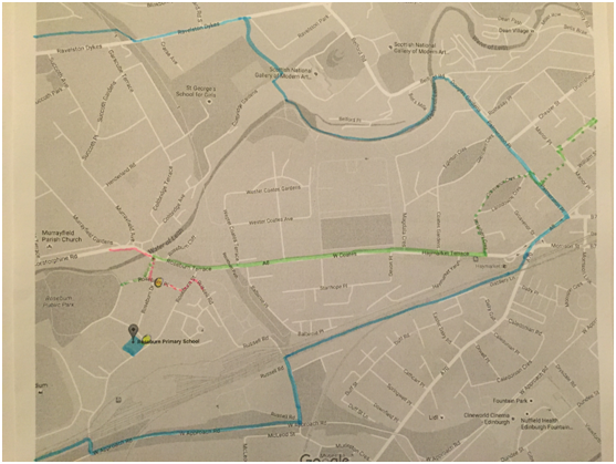 Roseburn route map