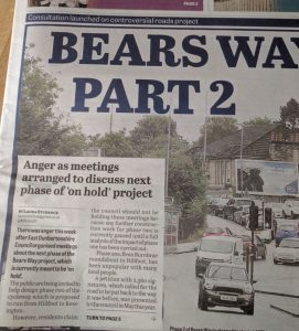 Bears Way front page story