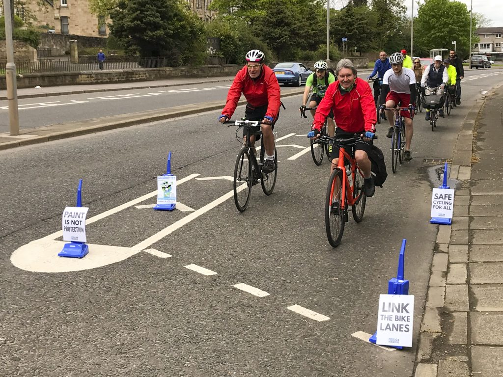 hoover protected cycle lane