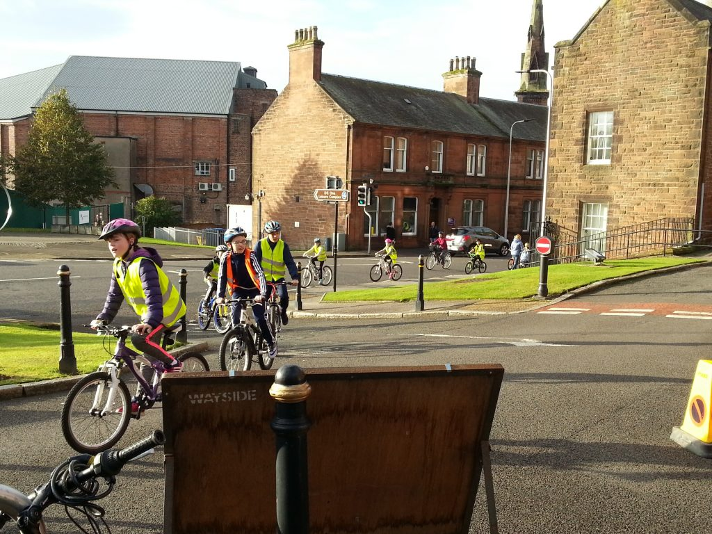 School cyclists