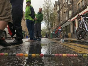 Jelly baby bike lane