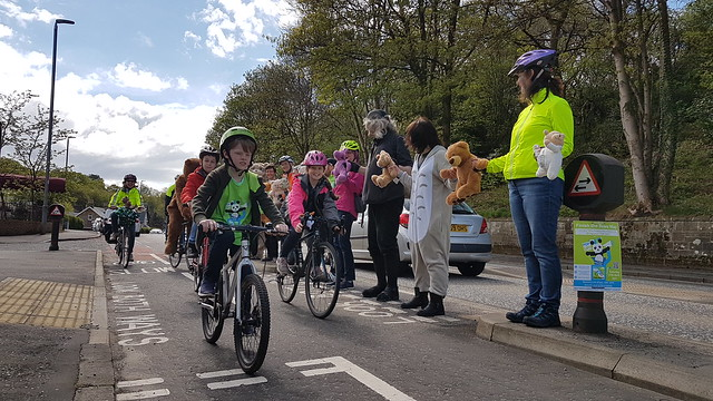 Children cycling on the Bears Way