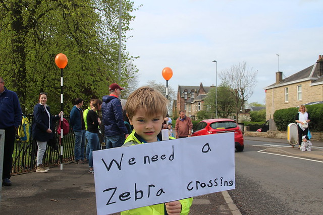 """We need a zebra crossing"" sign"