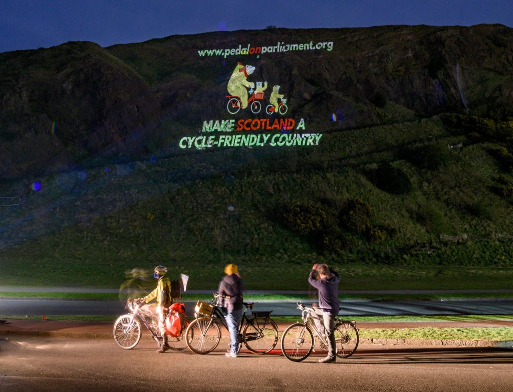 Projection onto Arthur's seat