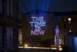 Projection of The Time is Now