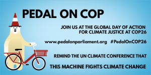 Pedal on COP Eventbrite banner with no date