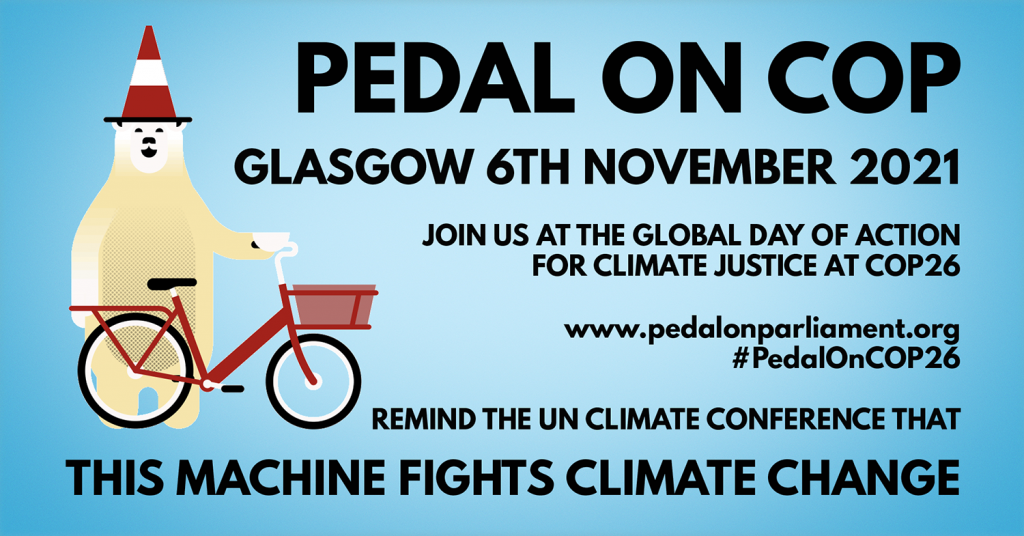 Pedal on COP Facebook Event Banner with date