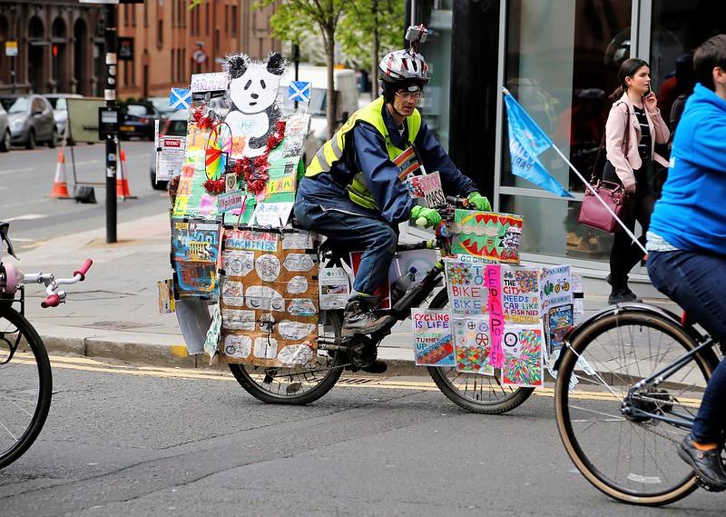 Decorated bike at POP in Glasgow 2017