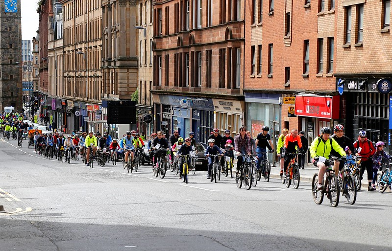 Pedal on Parliament ride in Glasgow